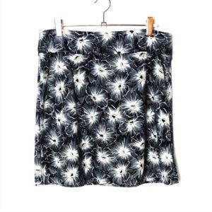 Patagonia Morning Glory Black Floral Skirt Small